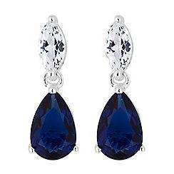 Simply Silver - Sterling silver multi cut drop earrings