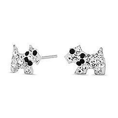 Simply Silver - Sterling silver scottie dog earrings