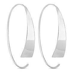 Simply Silver - Sterling silver thread through hoop earrings