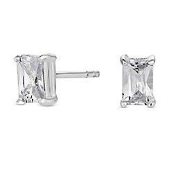 Simply Silver - Sterling silver cubic zirconia stud earrings
