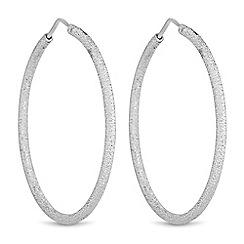 Simply Silver - Sterling silver sparkle hoop earrings