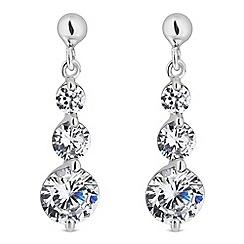 Simply Silver - Sterling silver cubic zirconia triple drop earrings