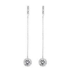 Simply Silver - Sterling silver halo drop earrings