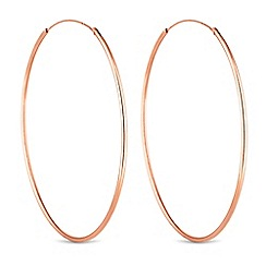 Simply Silver - Sterling silver large hoop earrings