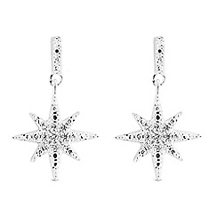 Simply Silver - Sterling silver north star drop earrings