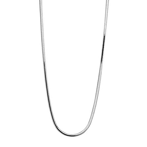 Simply Silver - Sterling silver four sided mirror necklace chain