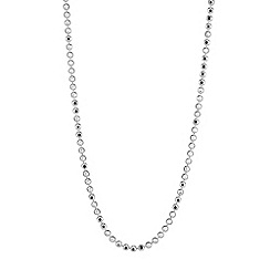 Simply Silver - Sterling silver plain bead necklace chain