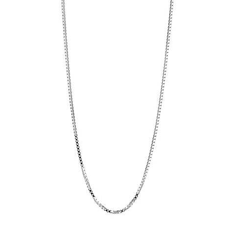 Simply Silver - Sterling silver plain box necklace chain