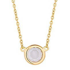 Simply Silver - Round cubic zirconia gold pendant necklace