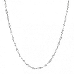 Simply Silver - Sterling silver twisted curb chain necklace