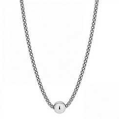 Simply Silver - Sterling silver mesh ball necklace