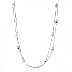 Simply Silver - Sterling silver mirror chain multirow bean necklace