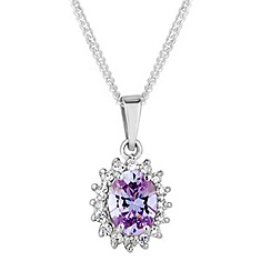 Simply Silver - Sterling silver purple kate pendant