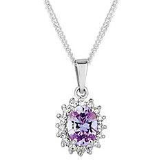Simply Silver - Sterling silver purple kate pendant
