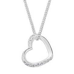 Simply Silver - Sterling silver cubic zirconia heart pendant
