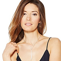 Simply Silver - Sterling silver mesh chain lariat necklace