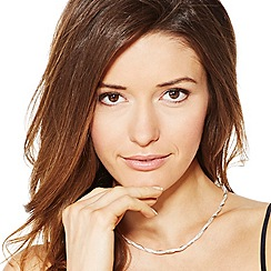Simply Silver - Sterling silver rose gold twisted chain necklace