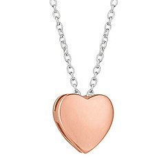 Simply Silver - Sterling silver rose gold heart pendant