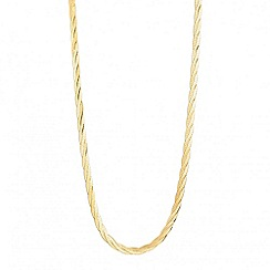 Simply Silver - Twisted gold herringbone chain necklace