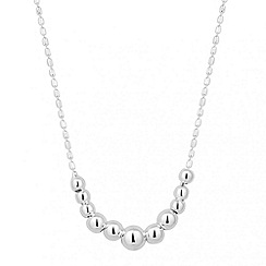 Simply Silver - Sterling silver polished ball drop necklace
