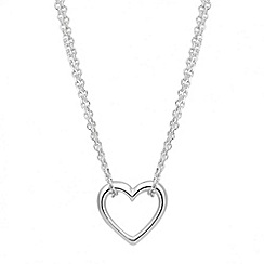 Simply Silver - Sterling silver multi strand heart pendant necklace