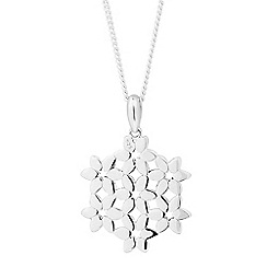 Simply Silver - Sterling silver floral filigree drop necklace