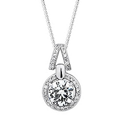 Simply Silver - Sterling silver cubic zirconia Clara drop necklace