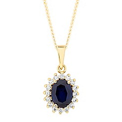 Simply Silver - Sterling silver cubic zirconia gold Kate necklace