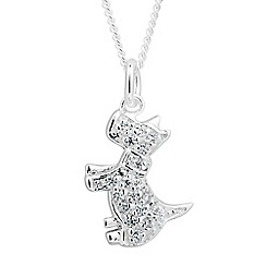 Simply Silver - Online exclusive sterling silver scotty dog drop necklace