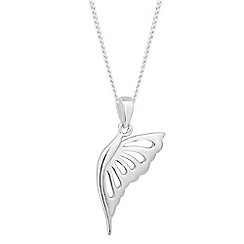 Simply Silver - Sterling silver butterfly pendant necklace