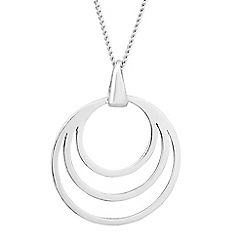 Simply Silver - Sterling silver triple ring drop necklace