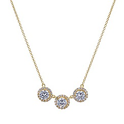 Simply Silver - Sterling silver gold Clara triple pendant necklace