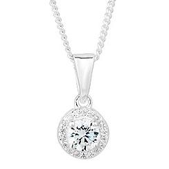 Simply Silver - Sterling silver mini clara cubic zirconia drop necklace