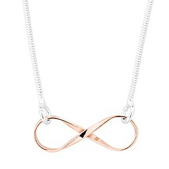 Simply Silver - Sterling silver two tone infinity link necklace