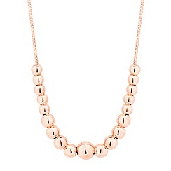 Simply Silver - Rose gold plated sterling silver mini ball necklace