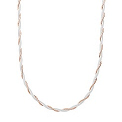 Simply Silver - Sterling silver two tone twisted chain necklace
