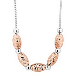 Simply Silver - Sterling silver two tone beaded necklace