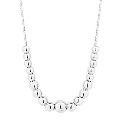 Simply Silver - Sterling silver mini ball bead necklace