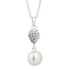 Simply Silver - Sterling silver freshwater pearl teardrop necklace