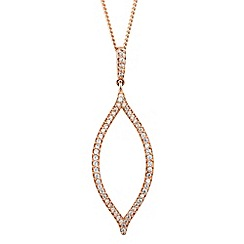 Simply Silver - Rose gold plated sterling silver signature gold leaf necklace