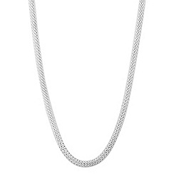 Simply Silver - Sterling silver mesh t bar necklace