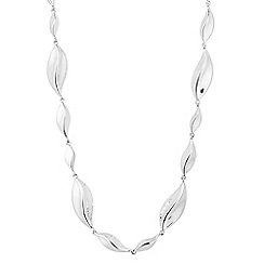 Simply Silver - Sterling silver leaf necklace