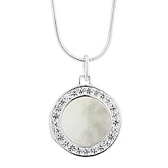 Simply Silver - Sterling silver mother of pearl locket necklace