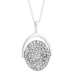 Simply Silver - Sterling silver cubic zirconia spinning pendant necklace