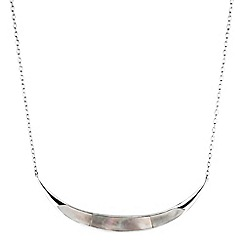 Simply Silver - Sterling silver mother of pearl allway spear necklace