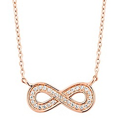 Simply Silver - Rose gold plated sterling silver infinity necklace