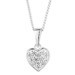 Simply Silver - Sterling silver mini pave heart necklace