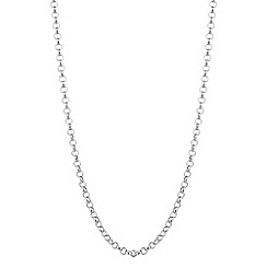 Simply Silver - Sterling silver rolo chain necklace