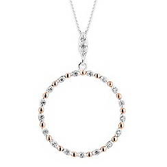 Simply Silver - Sterling silver two tone circle of life necklace
