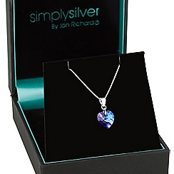 Simply Silver - Sterling silver heart pendant MADE WITH SWAROVSKI CRYSTALS